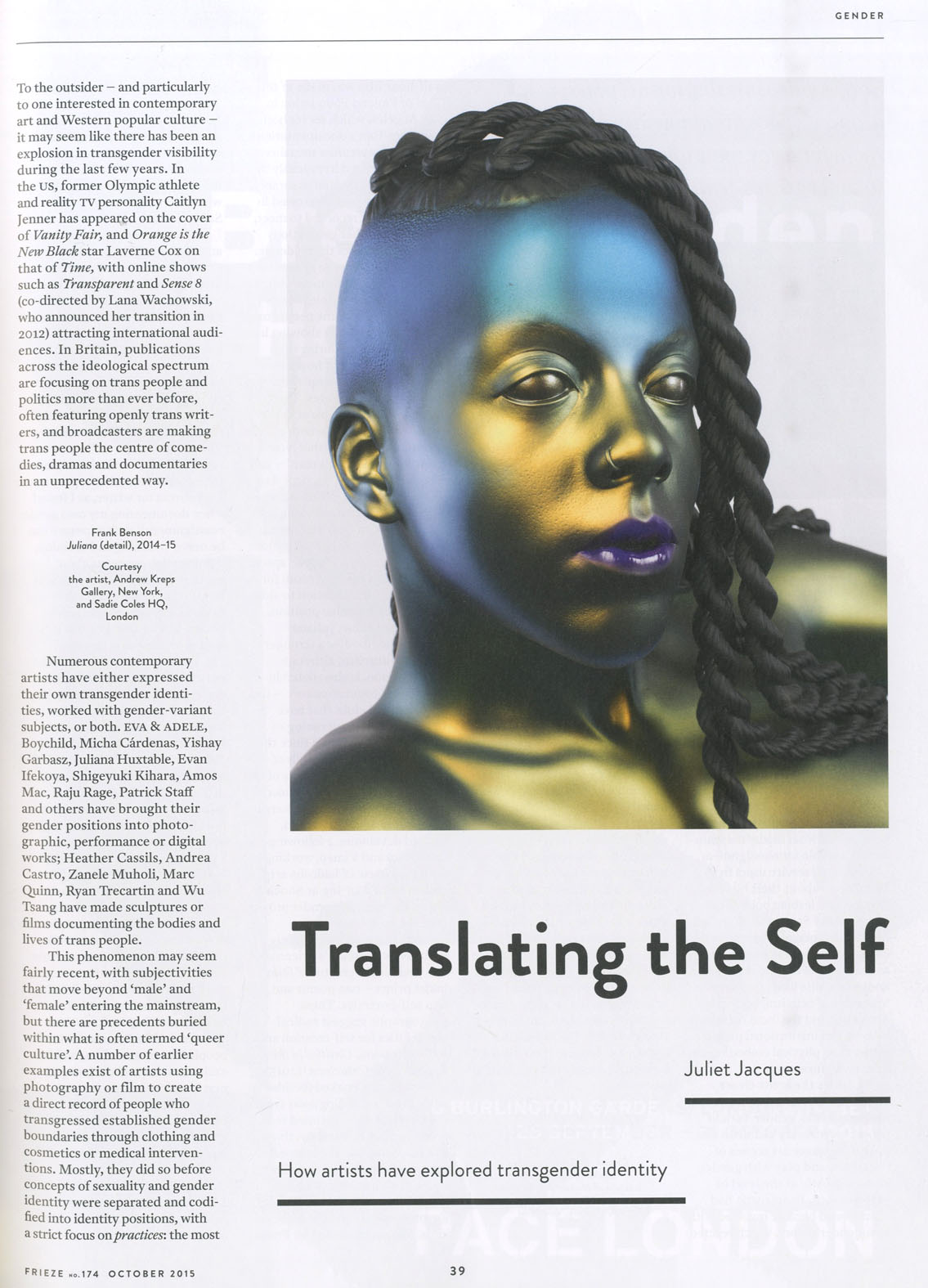 translating the self